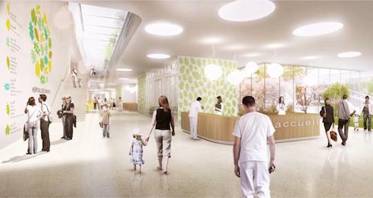 Hôpital des enfants - réception © GMP - JB Ferrari