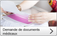 Demande de documents médicaux