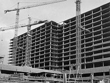 Construction du nouveau bâtiment hospitalier