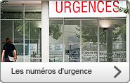 Les numéros d'urgences