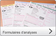 Formulaires d'analyses